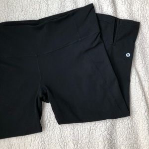 LULULEMON ATHLETICA CROPPED WIDE LEG LEGGINGS SZ12